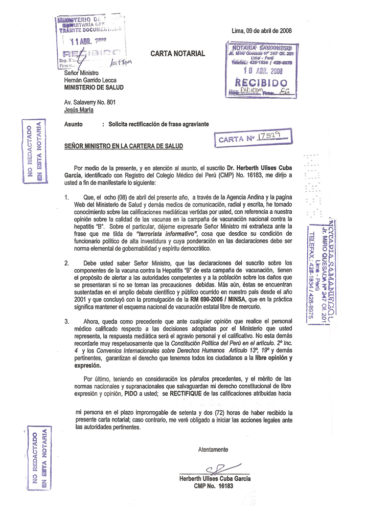 Carta Notariada Ejemplo Wwwimagenesmycom